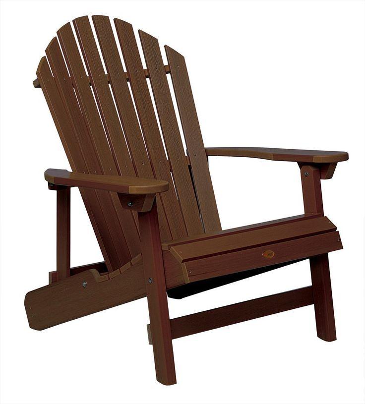 amazoncom highwood hamilton folding and reclining adirondack chair king size weathered - Garden Furniture East Bay