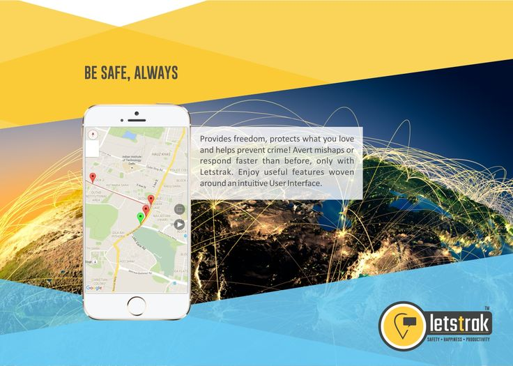 Provides freedom, protects what you love and helps prevent crime! Avert mishaps or respond faster than before, only with Letstrak. Enjoy useful features woven around an intuitive User Interface. ‪#‎letstrak‬ ‪#‎tracking_app‬ ‪#‎safety‬