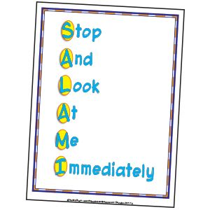 """CLASSROOM MANAGEMENT~  Here's an attention getter that really works!  Teach students that the acronym """"SALAMI"""" stands for """"Stop and Look at Me Immediately.""""  When you want your students' attention, just say, """"SALAMI,"""" students respond accordingly."""