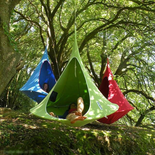 Hanging cocoons - I could cocoon here for a long time!