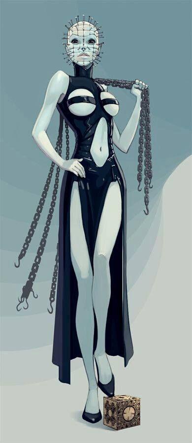 Sexy female cenobite from @Slasher Betty #horror #hellraiser