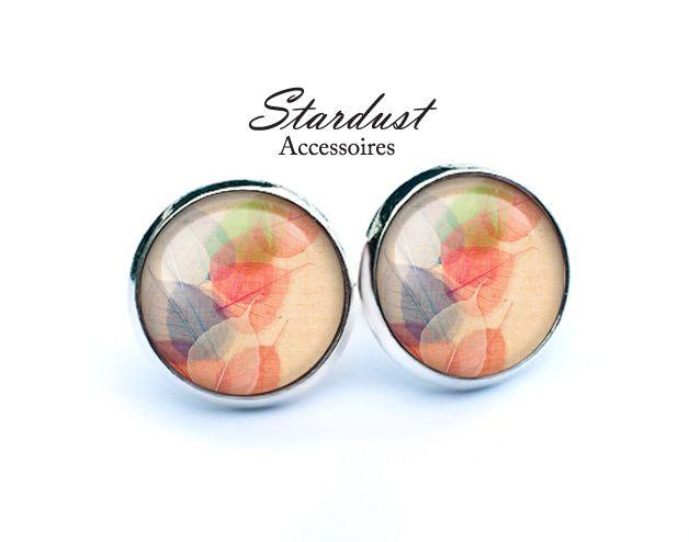 Ohrstecker silber ✿ bunte Blätter ✿ von Stardust Accessoires auf DaWanda.com
