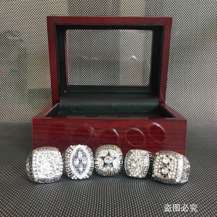1971 1977 1992 1993 1995 Dallas Cowboys Super Bowl Replica Championship Rings Set For Men, Drop Shipping Silvery Cowboys Ring