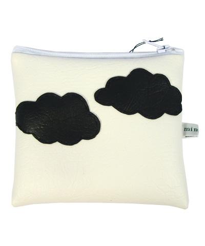 Small Vinyl Purse [clouds]