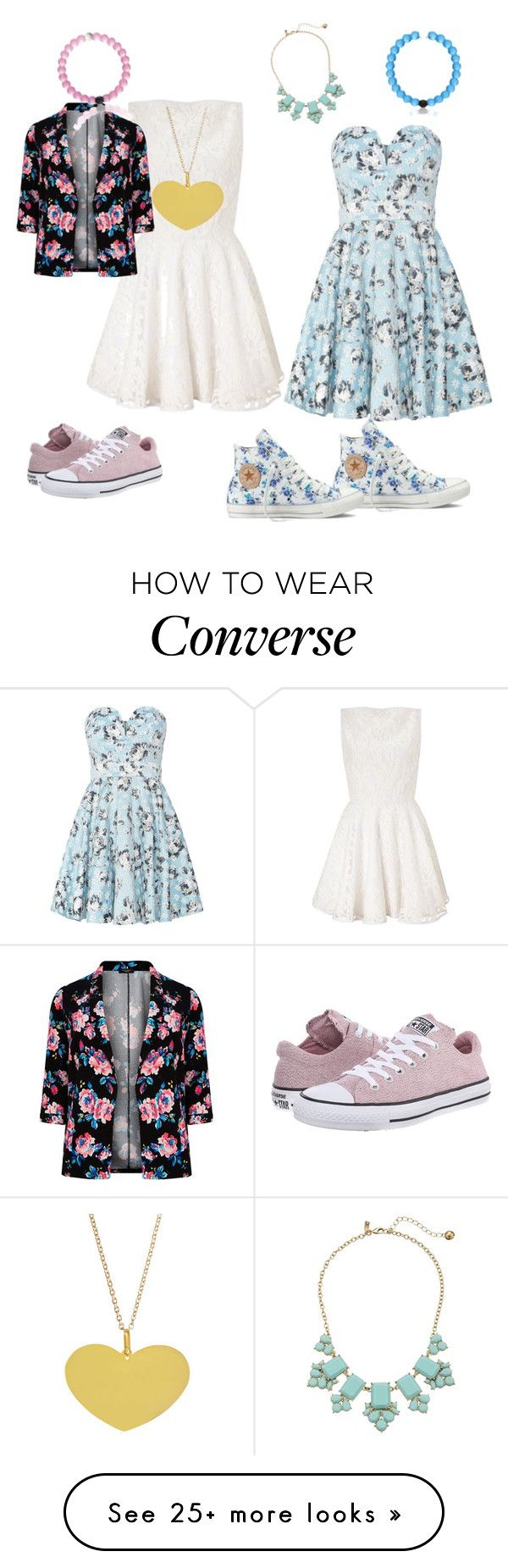"""My day with my converse and Lokai's"" by janb-1 on Polyvore featuring Lipsy, TFNC, Converse and Kate Spade"