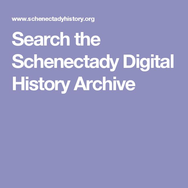 Search the Schenectady Digital History Archive