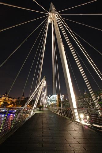 Millennium Bridge - London. Landmark. Bridge. Shapes. Perspective. Radiance.