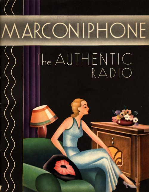 Advertisement: Marconiphone, The Authentic Radio, early 1930s