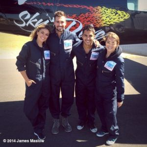 1/2 of BTR goes skydiving for charity | Fanlala.com
