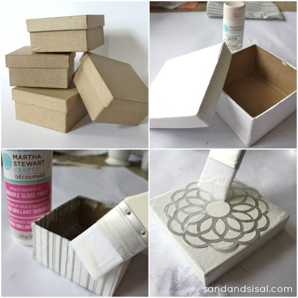 How to make decorative paper mache gift boxes #MSHoliday - fun holiday DIY using Martha Stewart Crafts - click thru for the full tutorial
