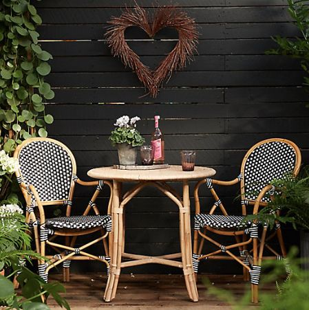 rattan and bamboo table and chairs, dining set: get the look.