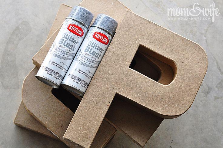 spray paint letters... EAT for kitchen... BATH for boys bathroom!!