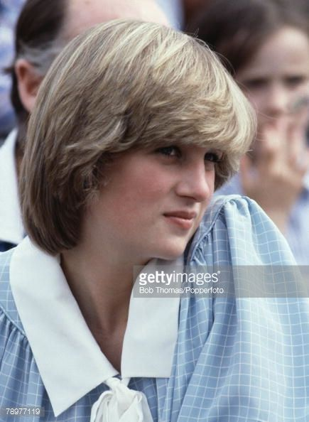 British Royalty Brockenhurst Hants England May 1982 Princess Diana watching Prince Charles play Polo