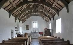 mwnt chapel, inside it has a calm atmosphere
