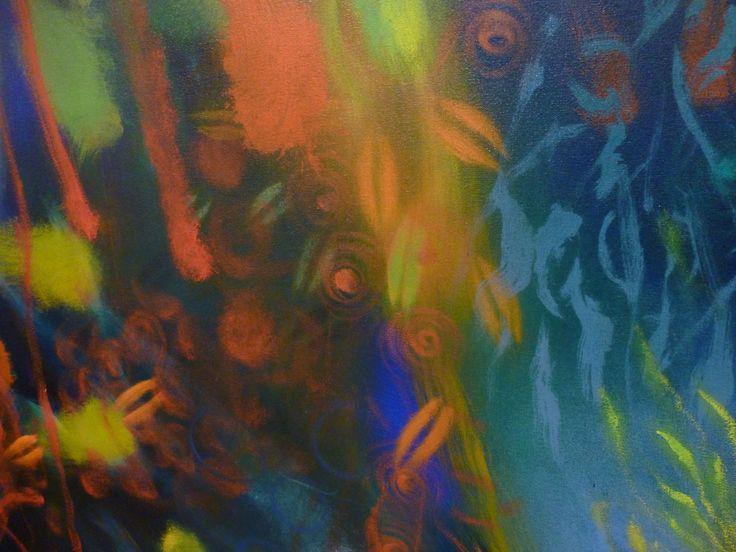 conoce la historia del arte occidental, puede introducirse e sus vericuetos conceptuales y domina una técnica claramente expresiva tan claramente Europea como la pintura al óleo