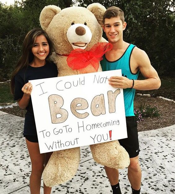 Nicole Haynes and Chase homecoming proposal 2015                              …