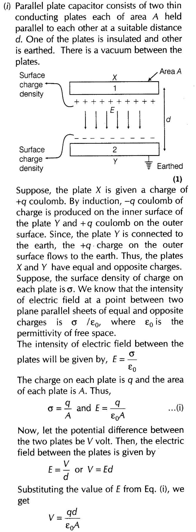 Important Questions for CBSE Class 12 Physics Capacitance