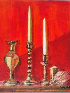 """""""Still Life Candlesticks"""" by Glen Cheesman"""