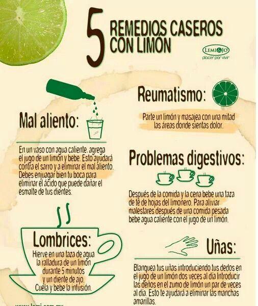 Remedios caseros con limon
