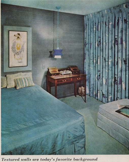 Retro Bedroom Interior Design: 51 Best Mid Century Interior Decorating