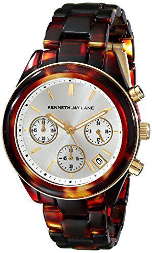 Kenneth Jay Lane Women's KJLANE-4001 4000 Series Tortoise-Pattern Watch #deals