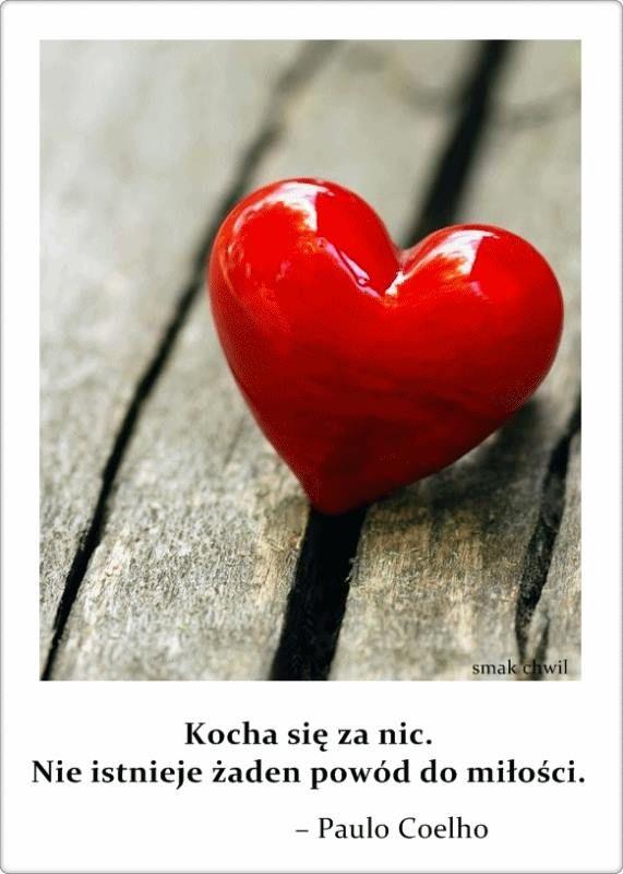 Kocha się za nic. Nie istnieje żaden powód do miłości. Paulo Coelho #cytaty serce