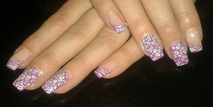 nails - fialové
