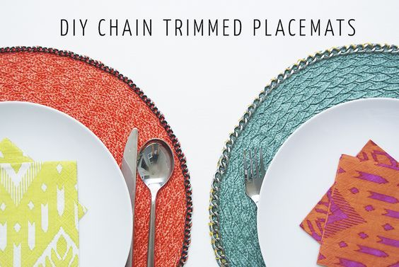 DIY Chain Trimmed Placemats The Best of home decoration in 2017.