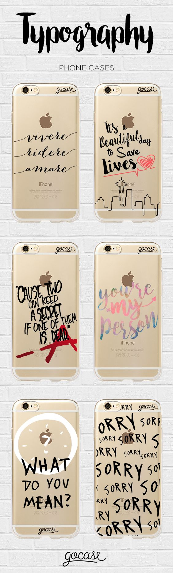 Shop now at: http://www.shop-gocase.com  #phonecases #typography
