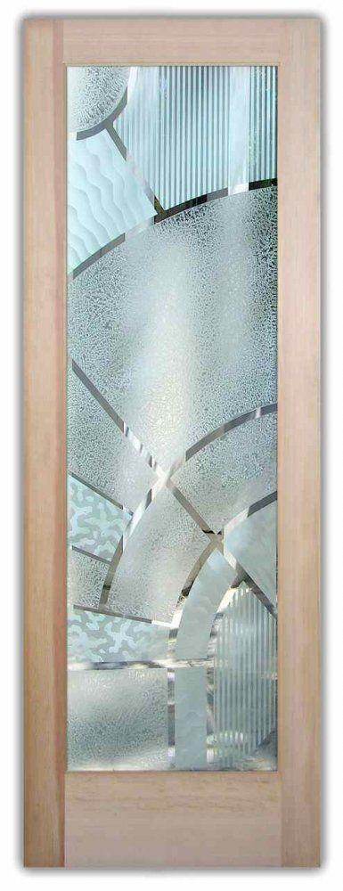 glass doors etched glass geometric modern decor sans soucie