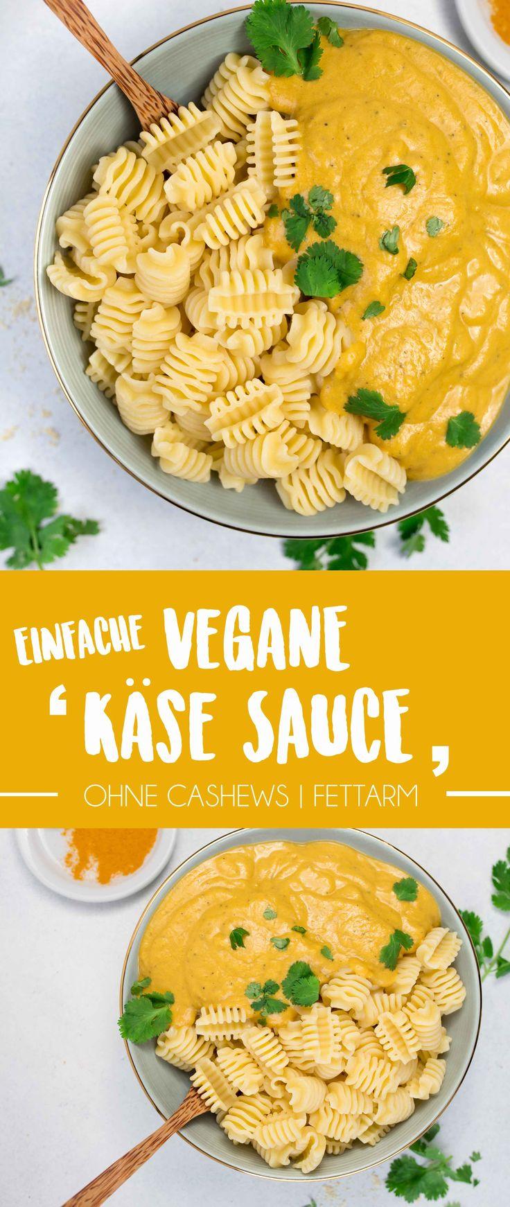 "Einfache vegane ""Käse"" Sauce (fettarm, ohne Cashews)"