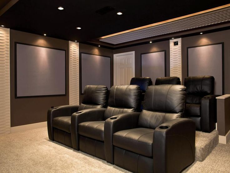 The Finished Theater Which Has Look And Feel Of A Far More Expensive Room
