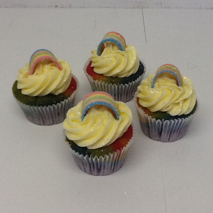 Rainbow cupcakes by Belle's Patisserie
