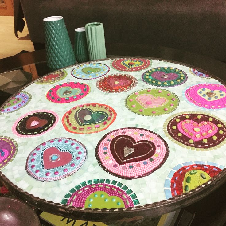 Never know what to put; lazy Susan, mixed media mosaic