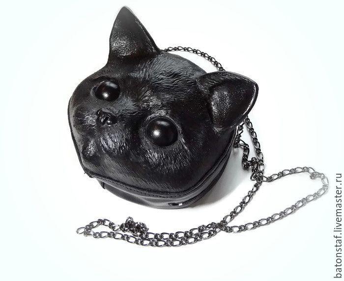 """Купить Сумка кожаная - """"Кошка"""". Рюкзак, набедренная сумка. - сумка кожаная женская"""