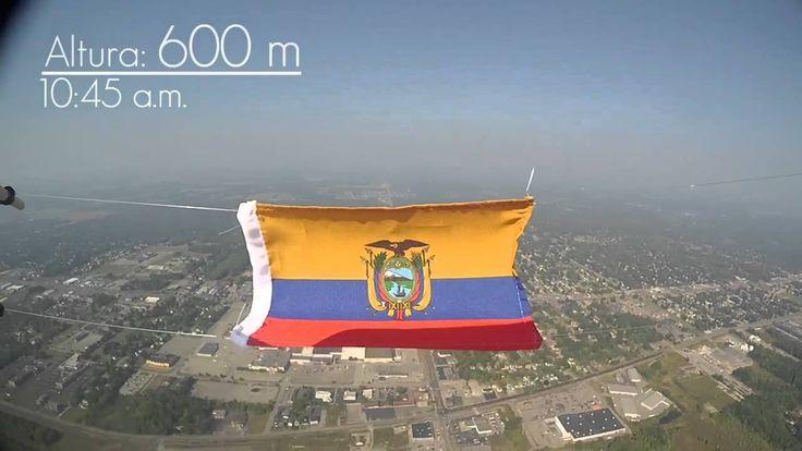 Proyecto Estratos Ecuador - Primera bandera del Ecuador en la Estratosfera