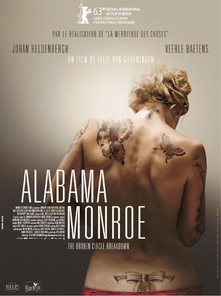 Alabama Monroe est un film de Felix Van Groeningen avec Johan Heldenbergh, Veerle Baetens. Synopsis : Didier et Élise vivent une histoire d'amour passionnée et rythmée par la musique. Lui, joue du banjo dans un groupe de
