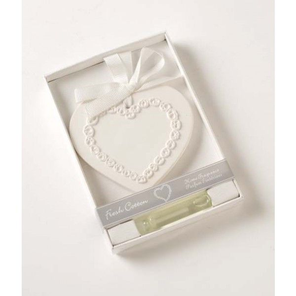 Heaven Sends Fresh Cotton Scented Clay Heart