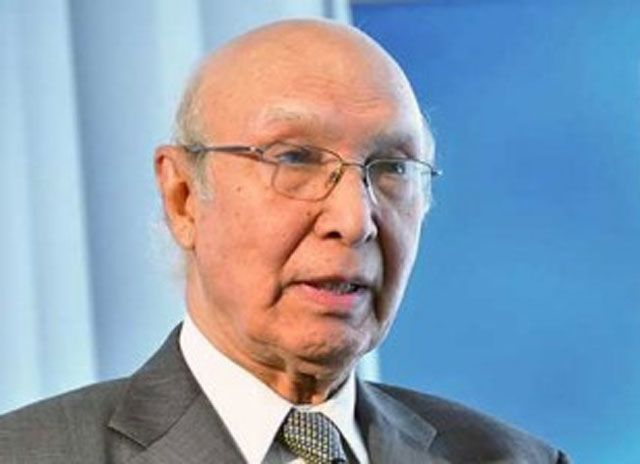 ISLAMABAD: – Prime Minister Nawaz Sharif's Adviser on Foreign Affairs Sartaj Aziz has said Pakistan is not oblivious to its defense and w...