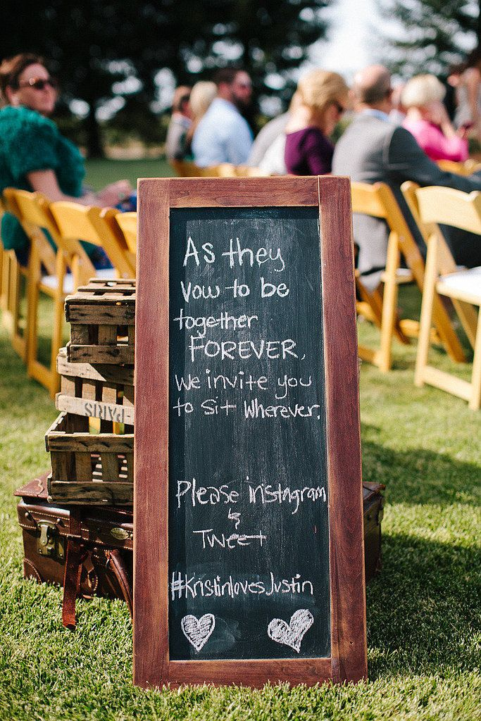 How to Create a Wedding Hashtag No One Else Will Have @dianezasaquattr  we need something like this for the ceremony I think