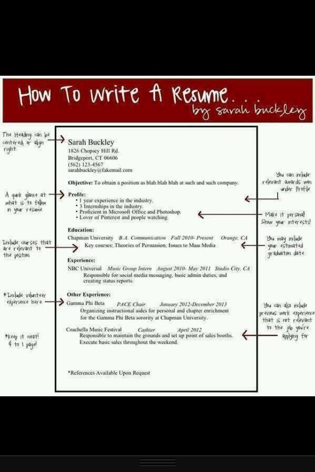 23 Best Resume Images On Pinterest | Resume Tips, Resume Writing And Career  Advice