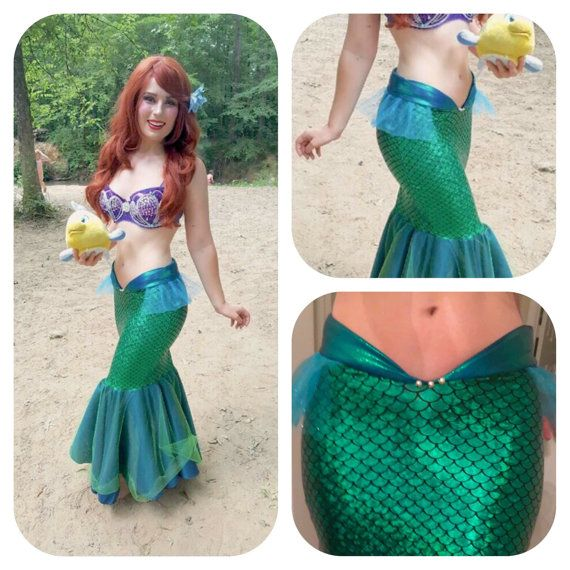 SEA MELODY mermaid tail  little mermaid tail by MTBGBOUTIQUE