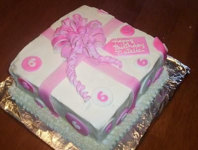 This cake is easy. Square cake, buttercream icing, fondant ...