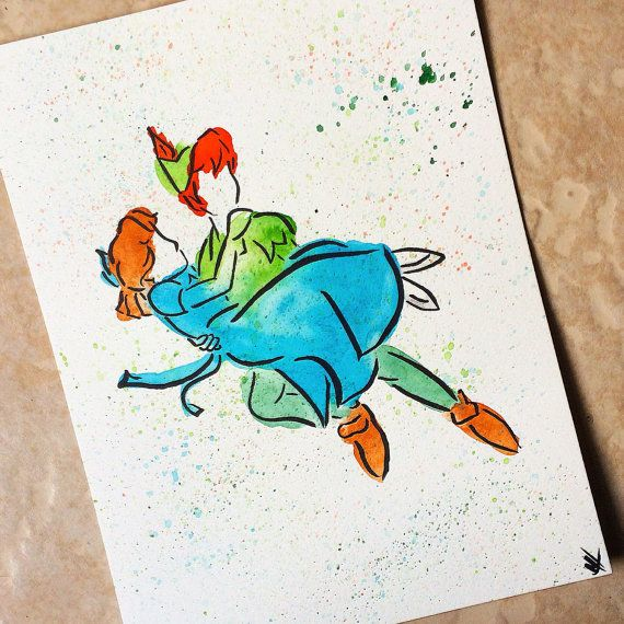 Hey, I found this really awesome Etsy listing at https://www.etsy.com/listing/254152676/peter-pan-painting