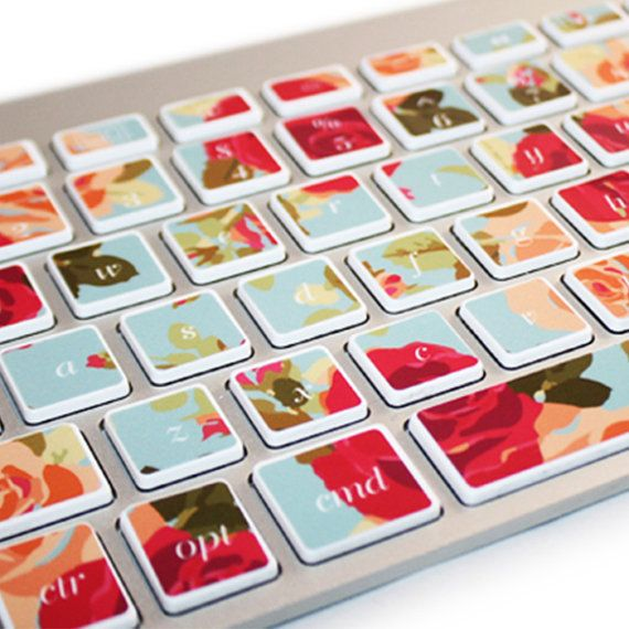 Mac Keyboard Stickers Green Ombre Decal by kidecals on Etsy