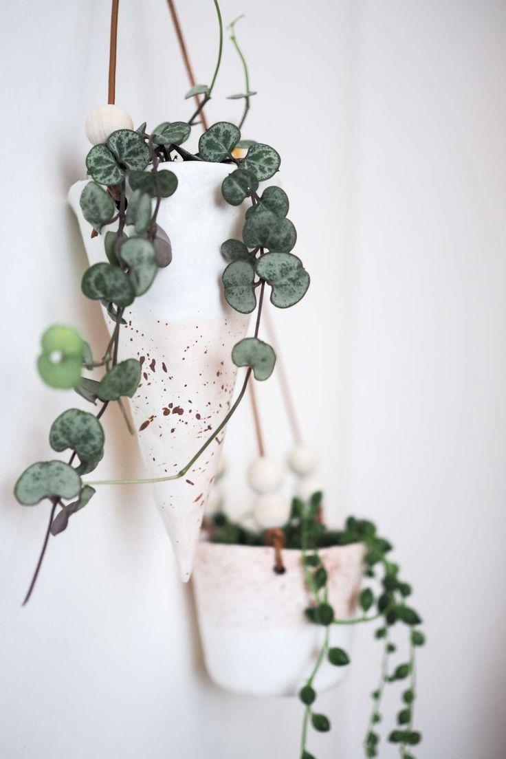 diy: stylischer blumentopf aus fimo | diy plants + planter projects
