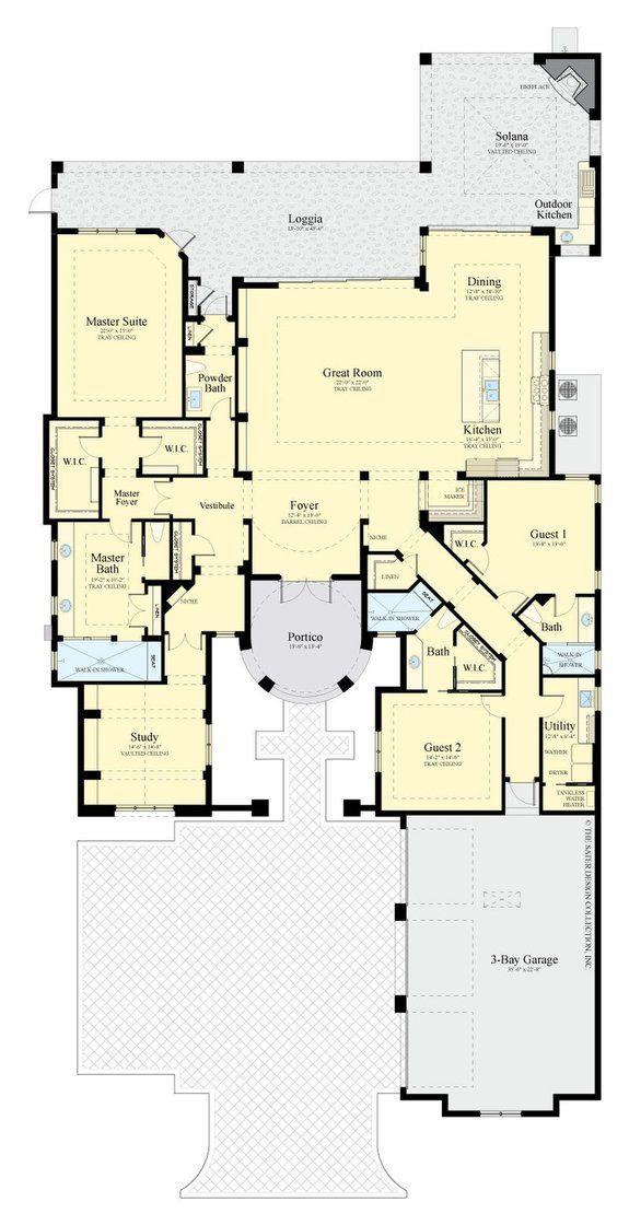Modern Mediterranean House Plans By Dan Sater Mediterranean Style House Plans House Plans Mediterranean House Plans