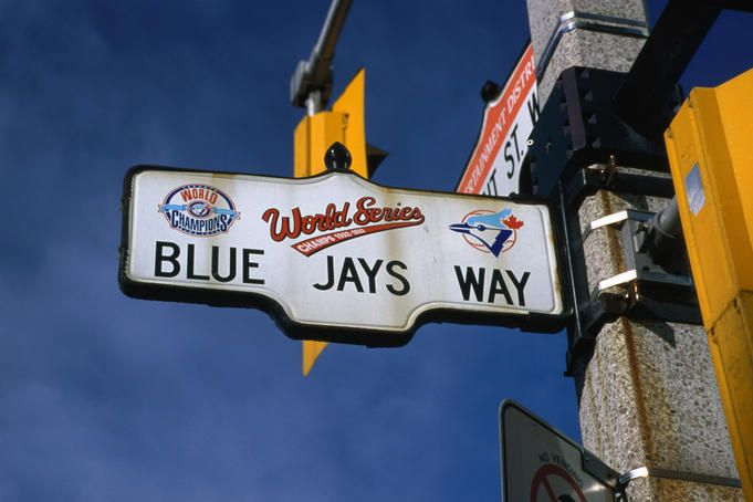 Blue Jays Way in their hometown of Toronto.