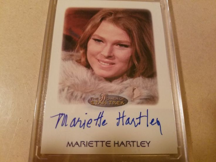Women of Star Trek MARIETTE HARTLEY Autographed Card *Rare*