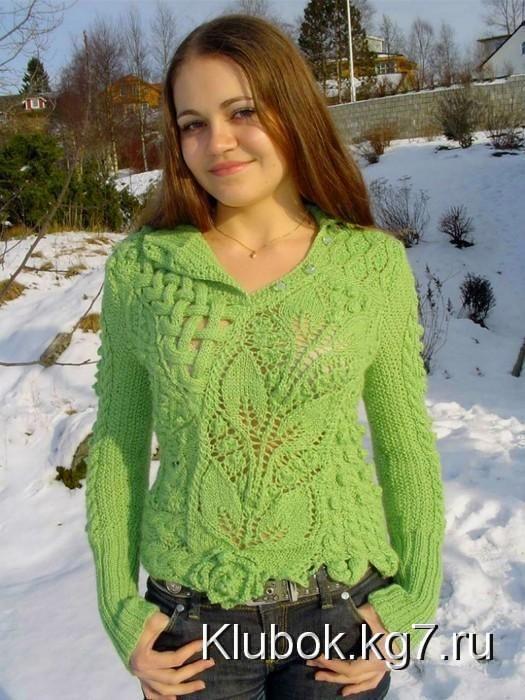 Салатовый свитер «Фантазия» | Клубок